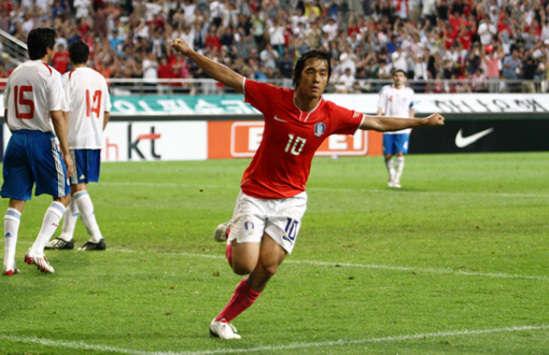 Park Chu-Young, Korea vs Australia (Goal.com)