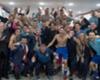 Hrvatski reprezentativci u svlačionici su bučno proslavili plasman u Rusiju