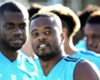 Patrice Evra during a Marseille training session