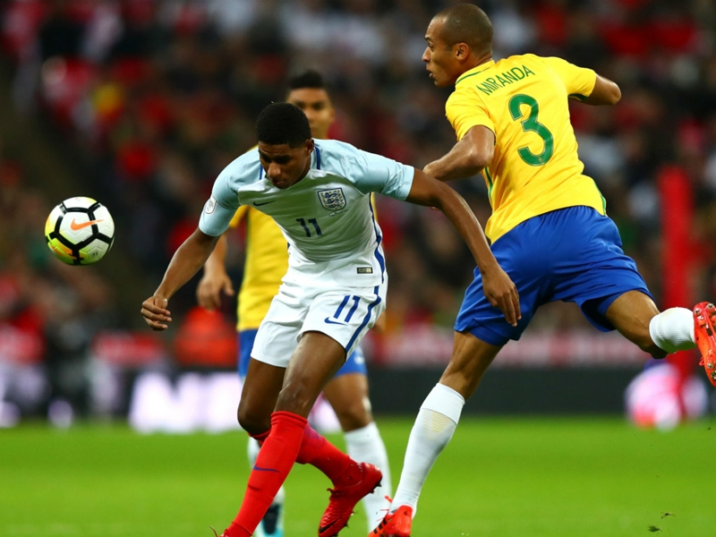 England 0 Brazil 0: Gomez impresses as hosts stifle Neymar and company