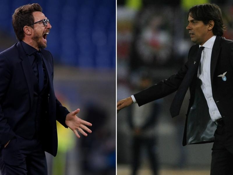 Roma-Lazio, Di Francesco contro Inzaghi: da possibili compagni ad avversari