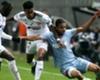Monaco's Jorge (R) battles Amiens' Bongani Zungu