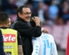 Napoli coach Maurizio Sarri embraces Dries Mertens