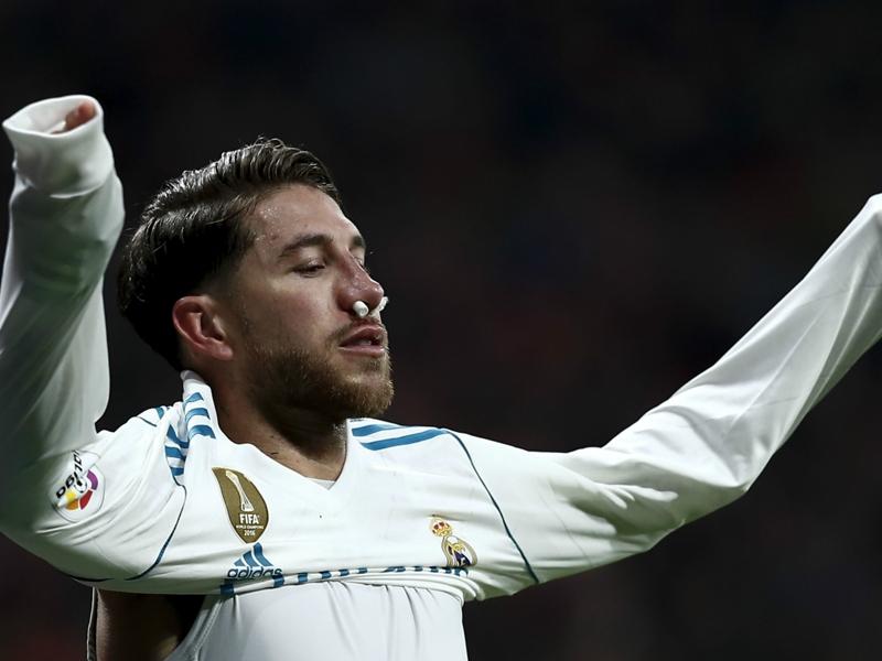 Ramos suffers broken nose in Atletico-Real derby