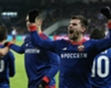 CSKA Moscow players celebrate a Champions League goal against Benfica