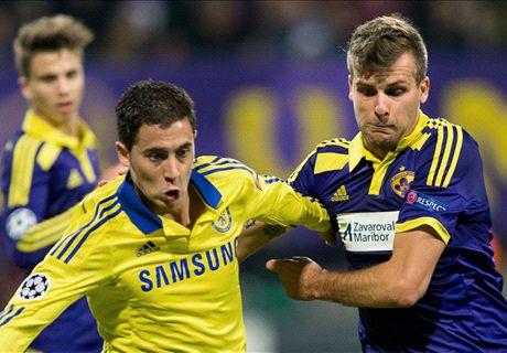 Chelsea rescató un empate ante Maribor