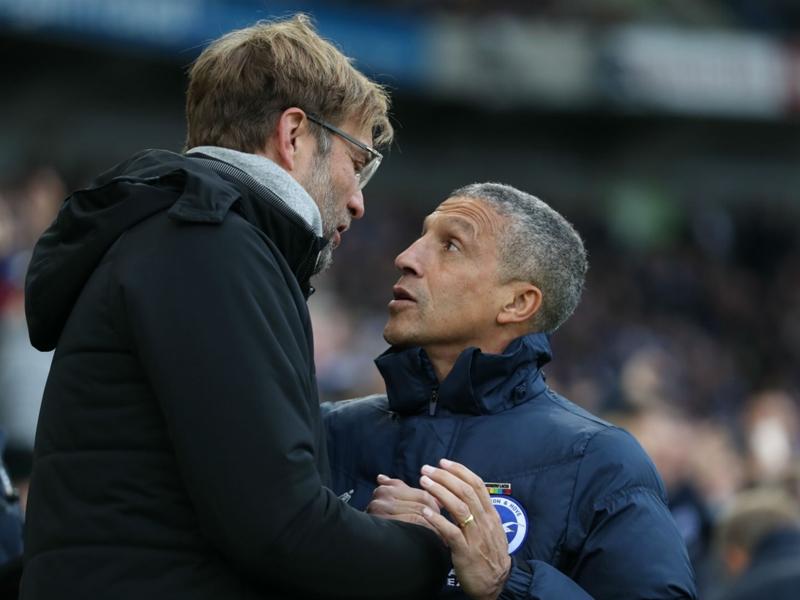 Klopp reveals Salah hug behind Hughton spat after Liverpool's thrashing of Brighton