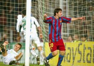 En Camp Nou marcó su primer gol contra Panathinaikos - 02/11/2005
