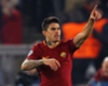 Roma forward Diego Perotti celebrates