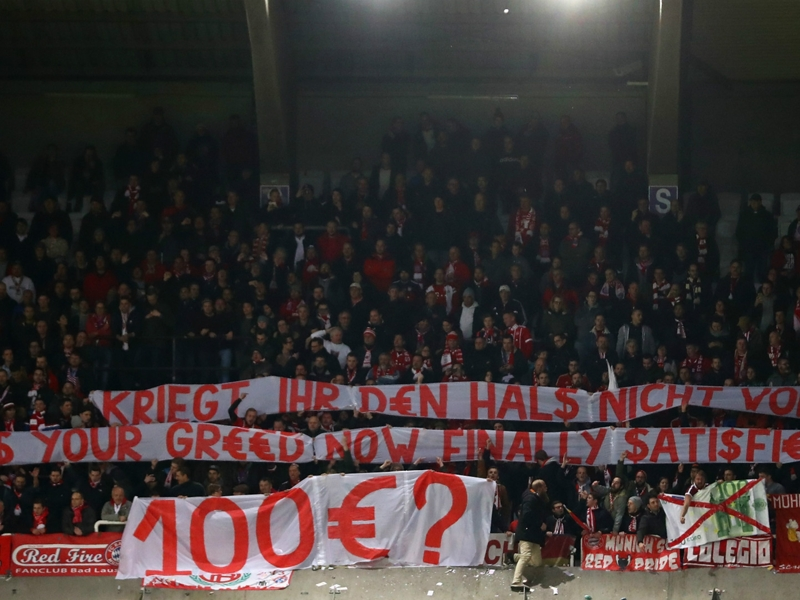 Bayern fined €20,000 for fake notes thrown by fans in Champions League protest
