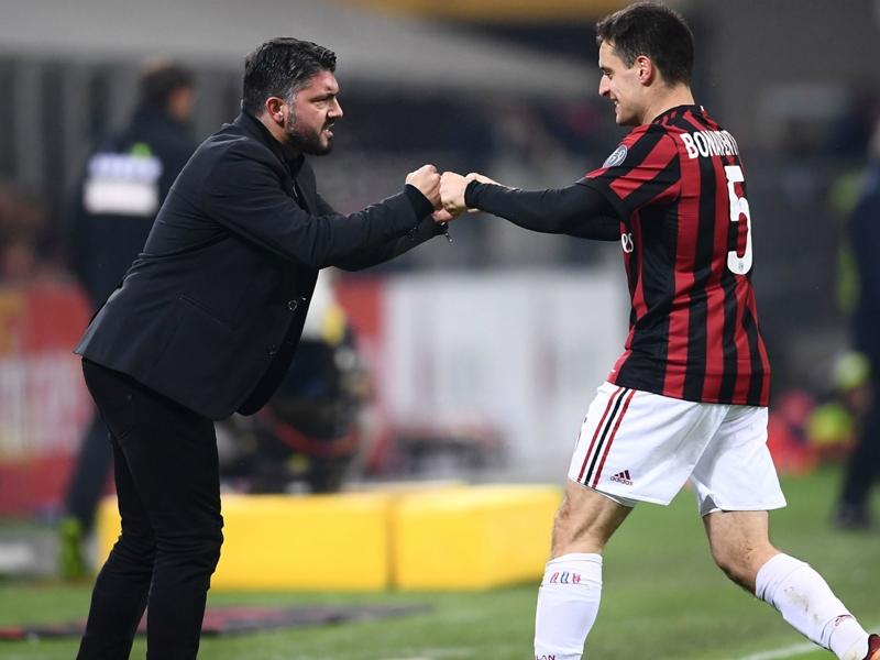 """Milan, Gattuso esalta Bonaventura: """"Il miglior centrocampista italiano"""""""