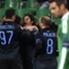 Dodo celebrates scoring for Inter away to Saint-Etienne