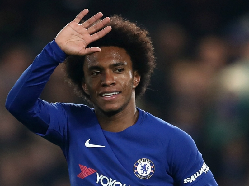 Chelsea star Willian dreams of Barcelona or Real Madrid move