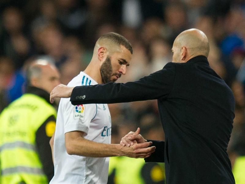 """Real Madrid, Zidane : """"Benzema a toujours montré qu'il avait du caractère"""""""