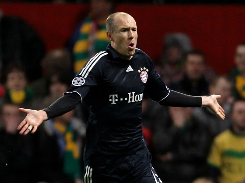 Bayern Munich troll Man Utd after Robben volley