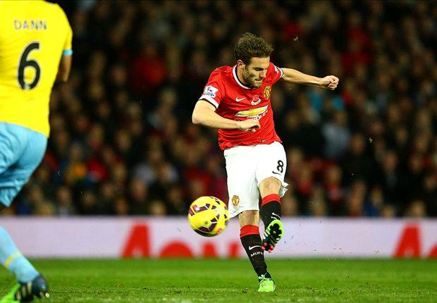 Manchester United 1-0 Crystal Palace: Mata goal hands Van Gaal narrow victory