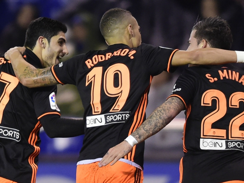 La Corogne-Valence 1-2, Guedes inspire Valence