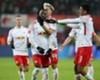 RB Leipzig celebrate Naby Keita's goal against Schalke