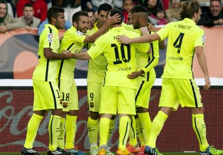 Almeria-Barcellona 1-2: Blaugrana primi