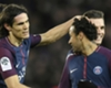Edinson Cavani and Neymar of PSG