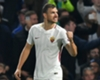 Edin Dzeko celebrates a Roma goal at Stamford Bridge