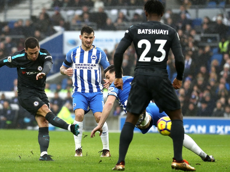 Brighton 0-4 Chelsea : Les Blues se réveillent, Eden Hazard aussi