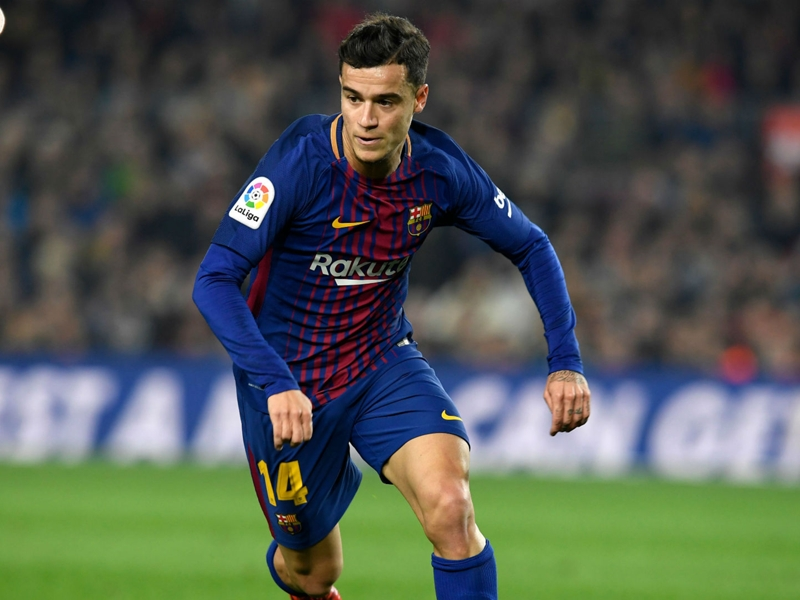 Philippe Coutinho scores first Barcelona goal