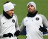 Neymar and fellow Brazilian Lucas Moura
