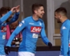 Dries Mertens celebrates scoring for Napoli