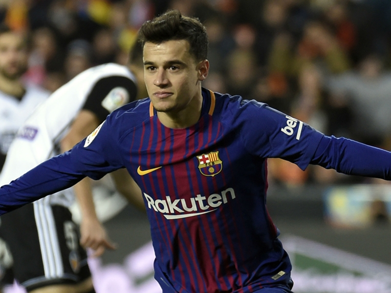 Coutinho branded 'a giant player' by Rakitic as €160m star helps Barcelona chase down treble