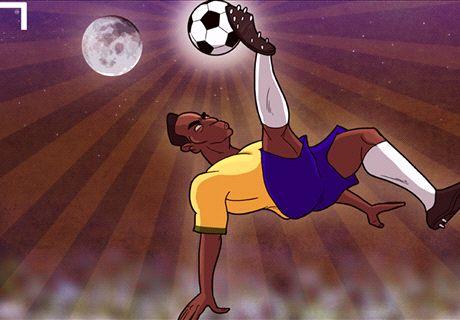 Caricatura: Pelé, al Salón de la Fama
