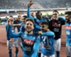 Napoli celebrate victory over Lazio