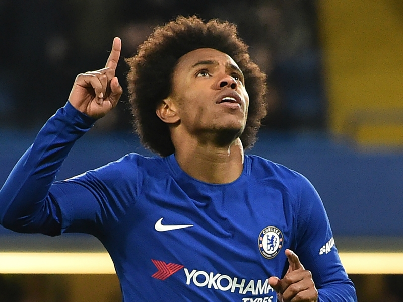 Willian leads Chelsea to Hull City thrashing in FA Cup