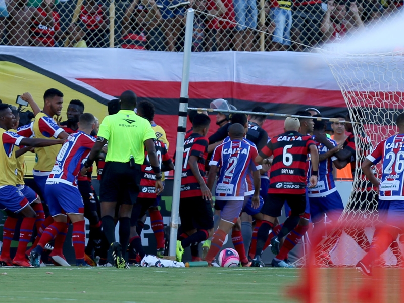 VIDEO: Nine red cards shown as Brazilian derby abandoned in chaos