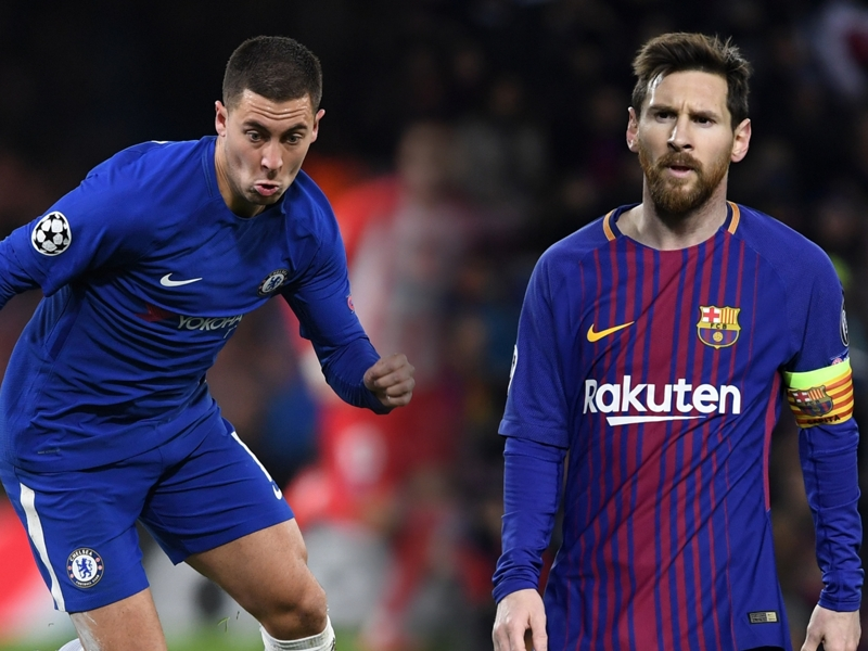 Messi is the greatest of all time, says Chelsea's Hazard
