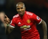 Manchester United wing-back Ashley Young celebrates a goal against Watford