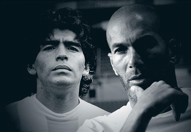 """Zidane elogia il Pibe: """"Maradona era di un altro livello"""""""