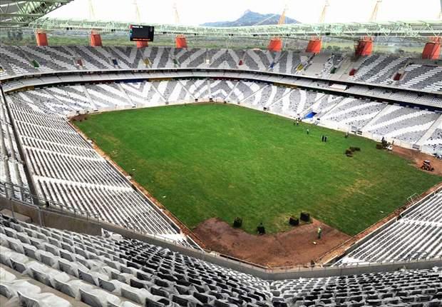 World Cup 2010: Nelspruit's Mbombela Stadium Pitch Re-Laid