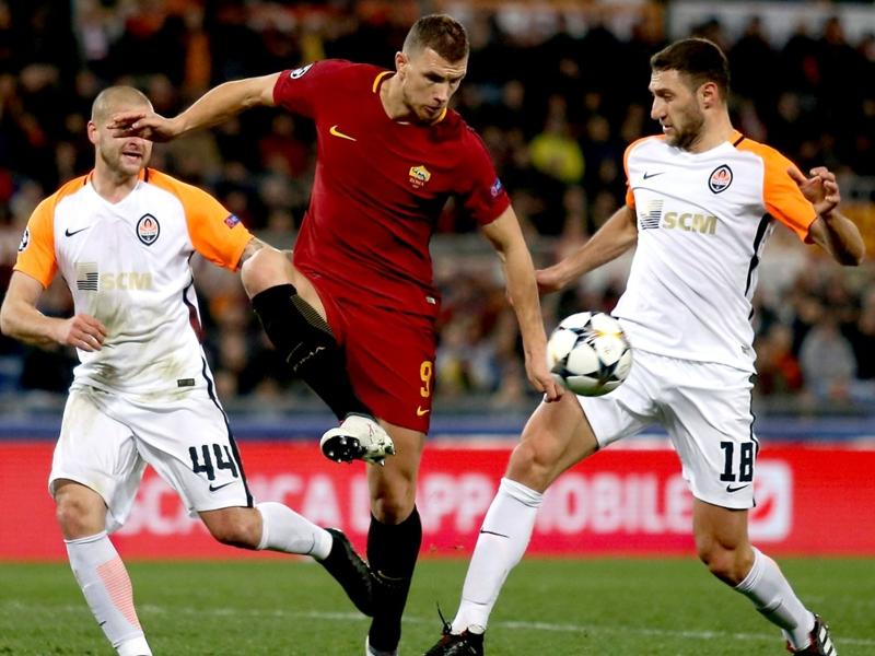 Roma-Shakhtar 1-0, un but de Dzeko suffit au bonheur de la Roma