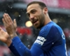 Cenk Tosun celebrates for Everton