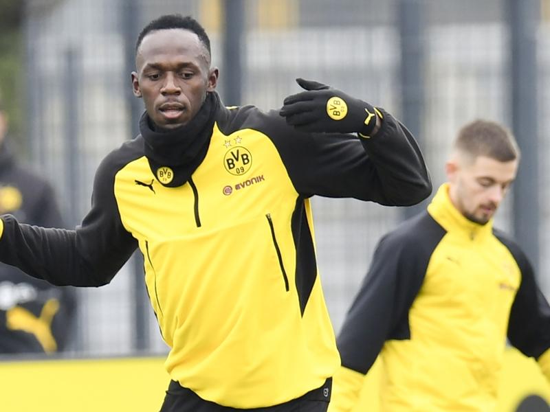 Usain Bolt présent à l'entraînement du Borussia Dortmund