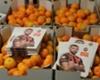Darijo Srna regala mandarinas a los niños Donetsk