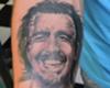 Se tatuó a Recoba, su ídolo y compañero