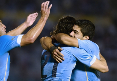 Suárez y Cavani, claves en Uruguay
