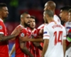 Arturo Vidal argues with Sevilla's Guido Pizarro