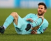 Lionel Messi reacts during Barcelona's defeat to Roma