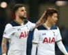 Kyle Walker and Son Heung-min celebrate for Tottenham