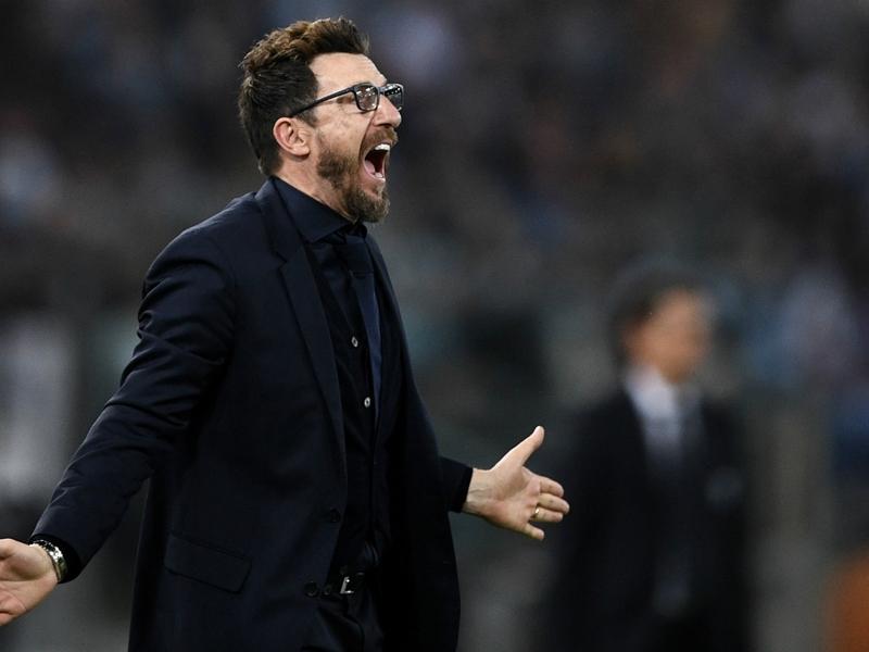 """Roma, Di Francesco analizza il derby: """"Una gara sporca"""""""