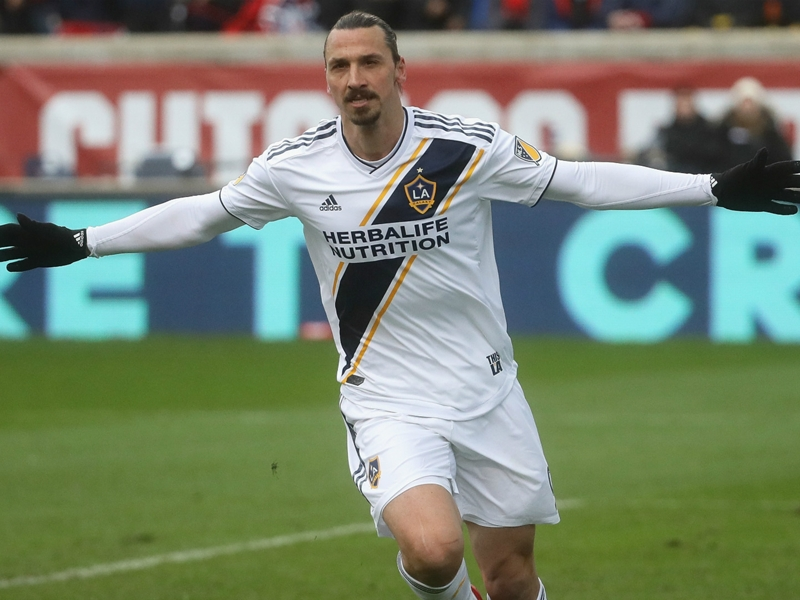 MLS Review: Ibrahimovic brace guides Galaxy to win, Sounders stop skid
