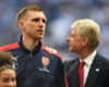 Per Mertesacker and Arsene Wenger at the 2017 FA Cup final